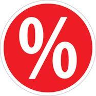 """Nálepka """"procenta"""", kulatá"""