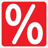 "Nálepka ""procenta"", hranatá"