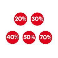 """Nálepka """"procenta"""", různé slevy"""