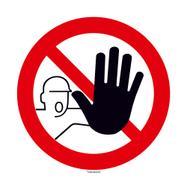 Nepovolaným vstup zakázán - kulatý štítek