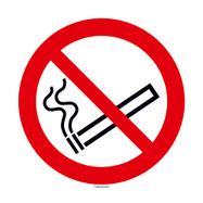 Kouření zakázáno - kulatý štítek