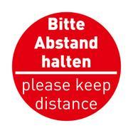 "Samolepka na podlahu ""Keep distance"""