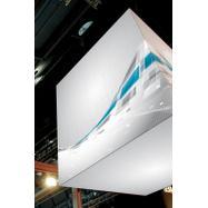 """Banner s digitálním potiskem pro systém napínacích rámů """"Cube"""""""