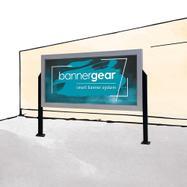 """bannergear® Stand """"betonové základy"""", oboustranný"""