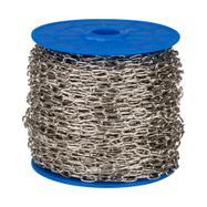 Řetěz článkový, 50 m, poniklovaná ocel