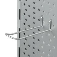 Dvojitý hák do děrované stěny bez drátěného přemostění