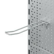 Dvojitý hák do děrované stěny s drátěným přemostěním