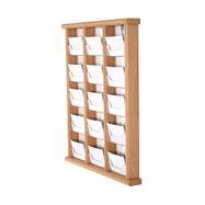 Dřevěný závěsný zásobník na vizitky