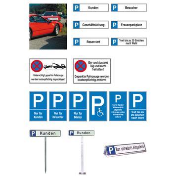 Parkovací a vyhrazovací štítky z hliníku
