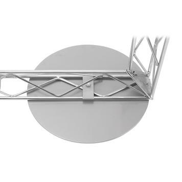 Podlahový držák kulatá ocelová deska pro systém Gitter-Leicht