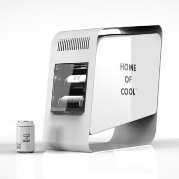 """POS Cooler """"Home of Cool"""", chladící regál"""