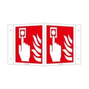 Úhlový štítek Požární hlásič (ruční)