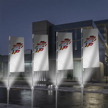 Osvětlení na vlajkový stožár