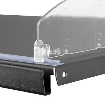 """Vodící kolejnice pro oddělovače """"PEK"""" s magnetickou nebo lepící páskou"""