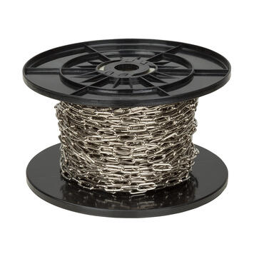 Řetěz svařovaný 30 m, galvanický pozink nebo poniklovaná ocel