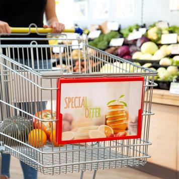 Plakátový rám pro nákupní vozík