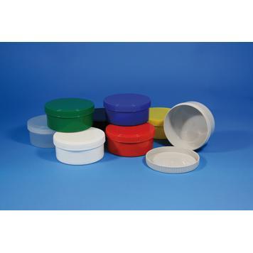 Kulatá plastová dóza se šroubovacím uzávěrem