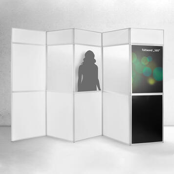 """Skládací stěna """"360"""" s potisknutelnými panely"""