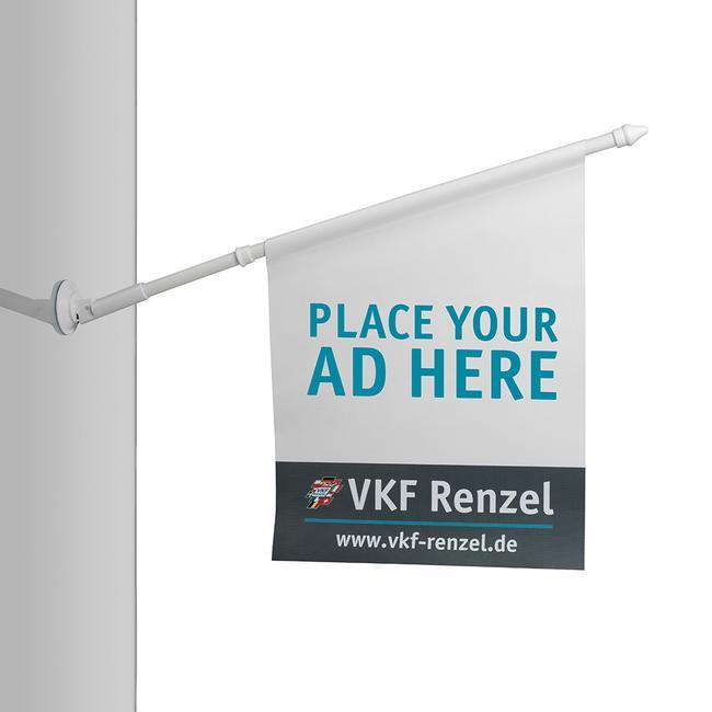 Držák vlajky z plastu, Ø 18,5 mm, s přísavkou a páčkou