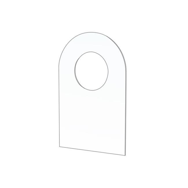 Přídavný nalepovací závěs s otvorem o ø 10 mm pro blistrová balení