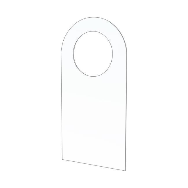 Přídavný nalepovací závěs s kulatým otvorem o ø 15 mm pro blistrová balení