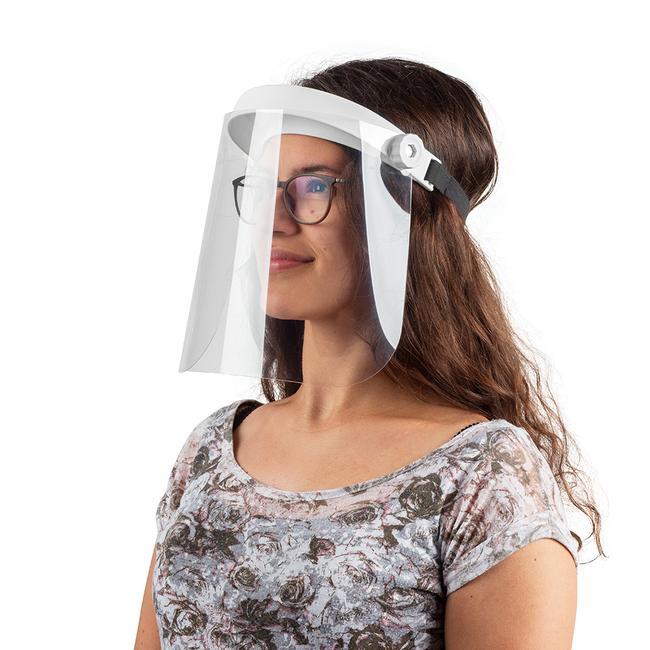 Sklopný ochranný štít na obličej