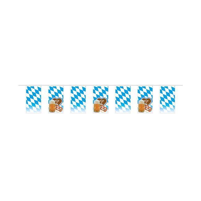 """Vlajkový řetěz """"Bavorské vlajky s motivem"""""""