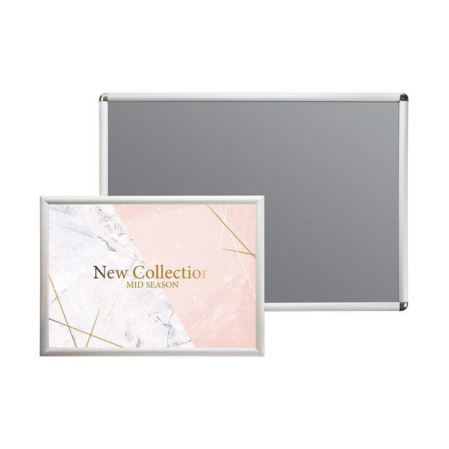 Kliprám, 25 mm profil, stříbrně eloxovaný, zkosené / zaoblené rohy