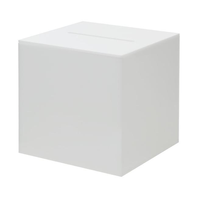 Losovací box opál, neprůhledné akrylátové sklo