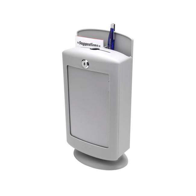Box na podněty a návrhy plastový, světle šedý