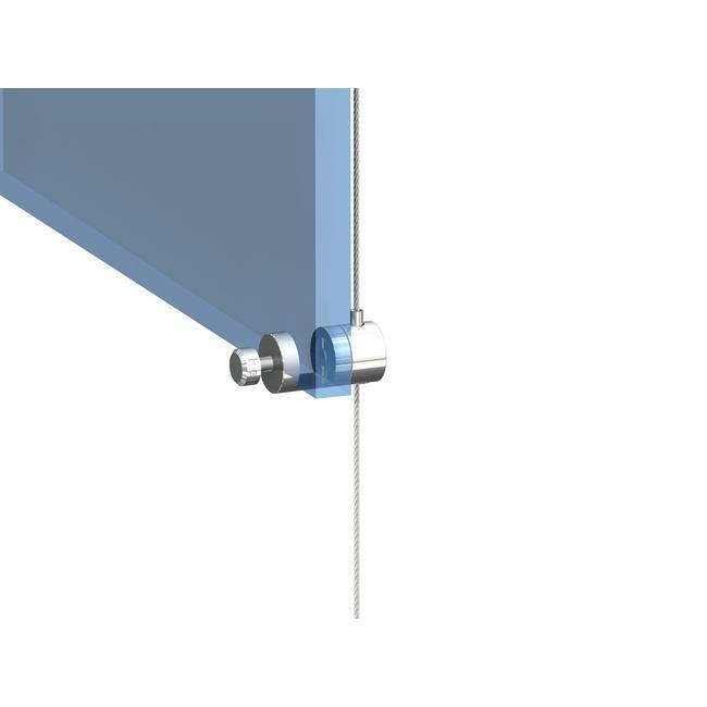 Držák lankového systému pro zasunutí různě silných materiálů
