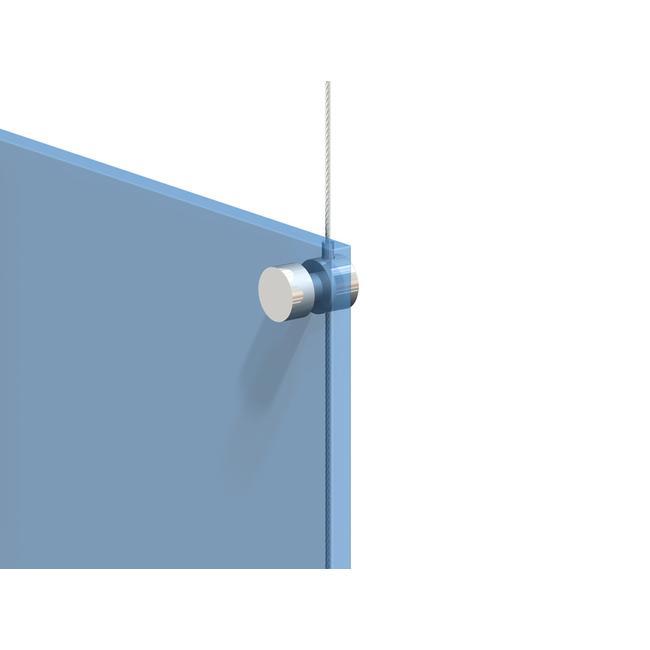 Držák lankového systému pro tabulky s předvrtanými otvory