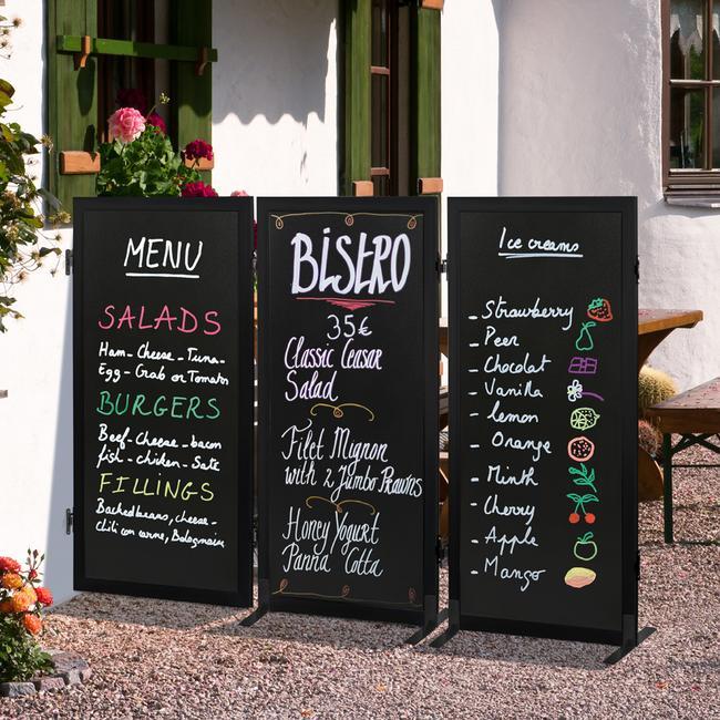 """Křídová tabule - dělící stěna """"Café"""""""