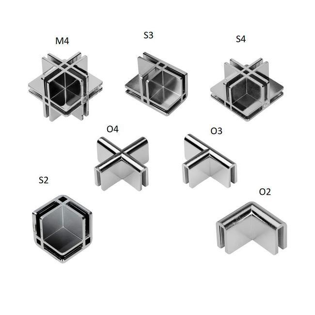 Panelová spojka pro stavebnicové vitríny