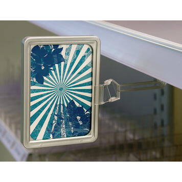 Regálový poutač s magnetem