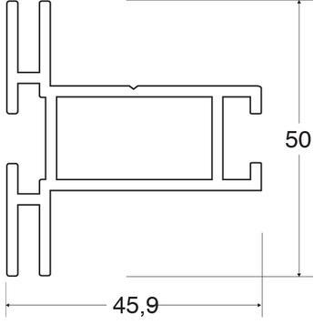 """Skladová délka """"Napínací rám - profil 50"""""""