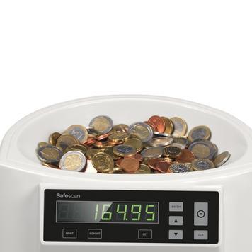 Safescan 1250 počítadlo mincí/třídička mincí