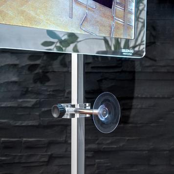 """Držák systému LED-rámů """"TS"""" do výlohy"""