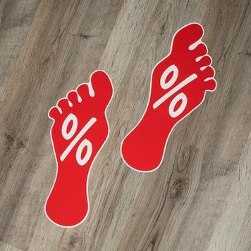 Nálepka na podlahu - stopa