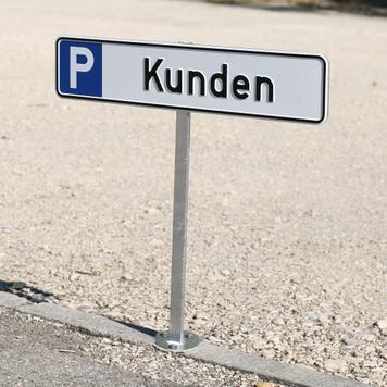 Sloupek pro parkovací štítky