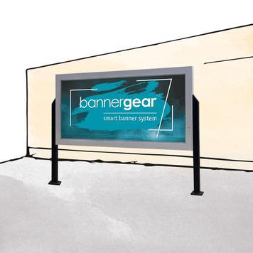 "bannergear® Stand ""betonové základy"", jednostranný"