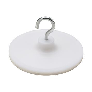 Nalepovací háček bílý s kovovým háčkem