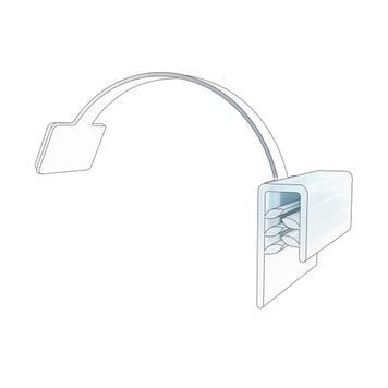 Držák poutače s pěnovou lepící páskou