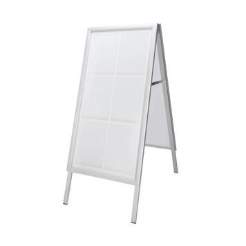 """Voděodolný plakátový stojan """"Broker"""" s profilem 35 mm, zkosenými rohy, stříbrně eloxovaný"""