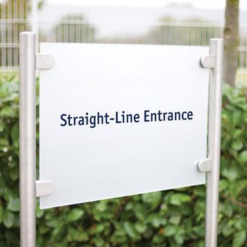 """Firemní tabule """"Straight Line Entrance"""""""