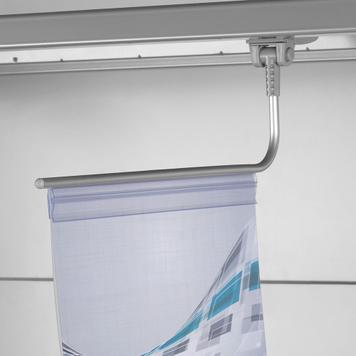 Magnetický držák banneru s upínacím profilem