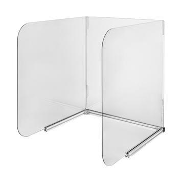 Mobilní ochranná přepážka na stoly