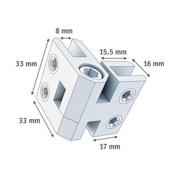 Kloubová spojka 3-5 mm nebo 5-8 mm