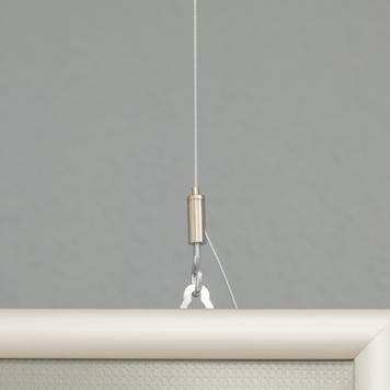 Oboustranný zaklapávací rám, 25 mm profil, stříbrně eloxovaný se zkosenými rohy