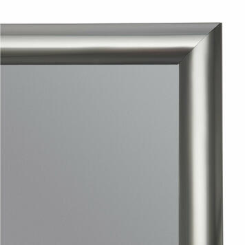 Kliprám, 25 mm profil, vzhled nerezové oceli, zkosené rohy
